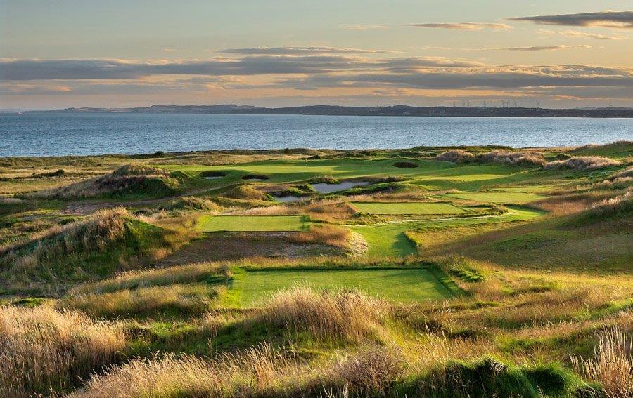 Par 3 sur le parcours de golf de Dumbarnie Links en Ecosse proche de St Andrews