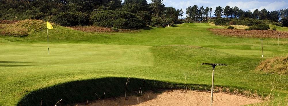 Le green du golf de Kilmarnock.