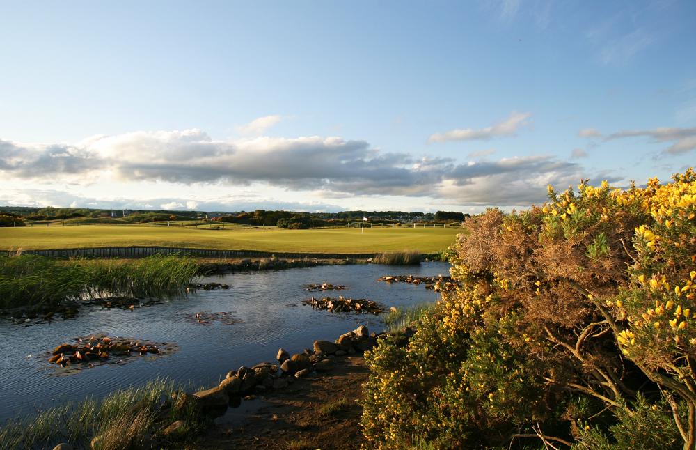 Obstacle d'eau sur le parcours Burnside de Carnoustie