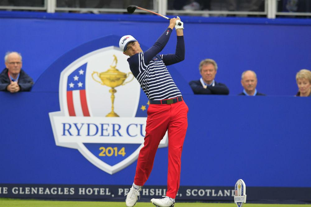 Jordan Spieth à la Ryder Cup 2014 à Gleneagles sur le parcours PGA Centenary en Ecosse