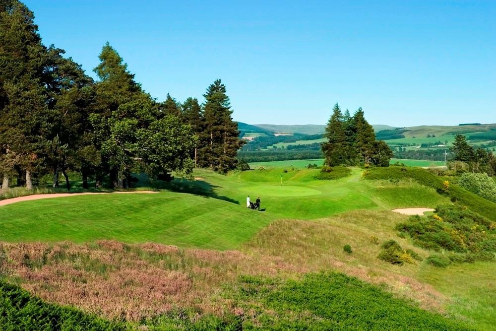 Le paysage du golf de Gleneagles.