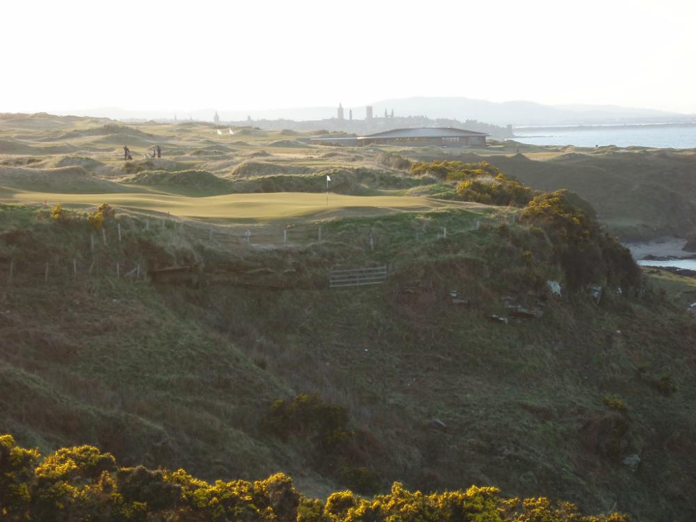 Green ondulé sur le pracours du Castle Course