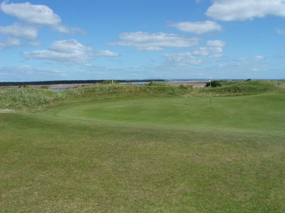 Large green sur le New Course à St Andrews