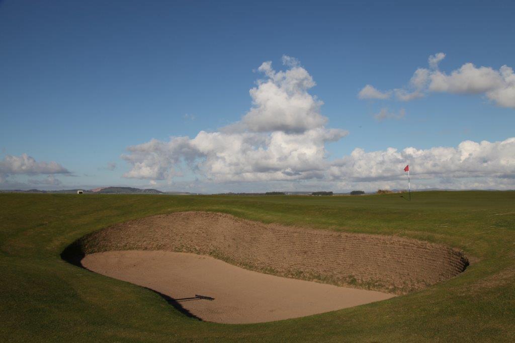 Bunker du 11ème trou du golf Old Course à St Andrews en Ecosse