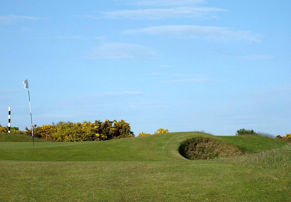 Bunker et green sur le parcours de Panmure