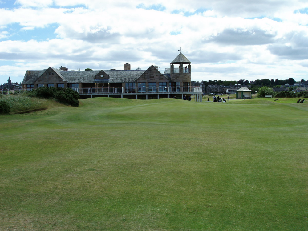 Club house sur le New Course à St Andrews