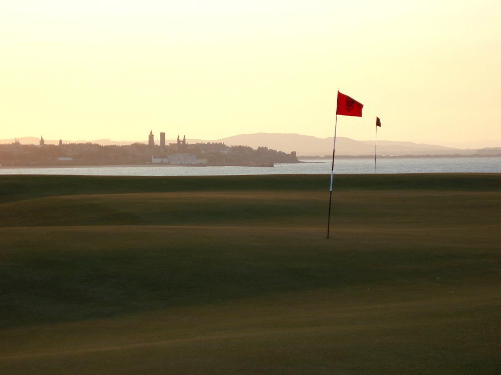 Coucher de soleil sur le parcours du Castle Course