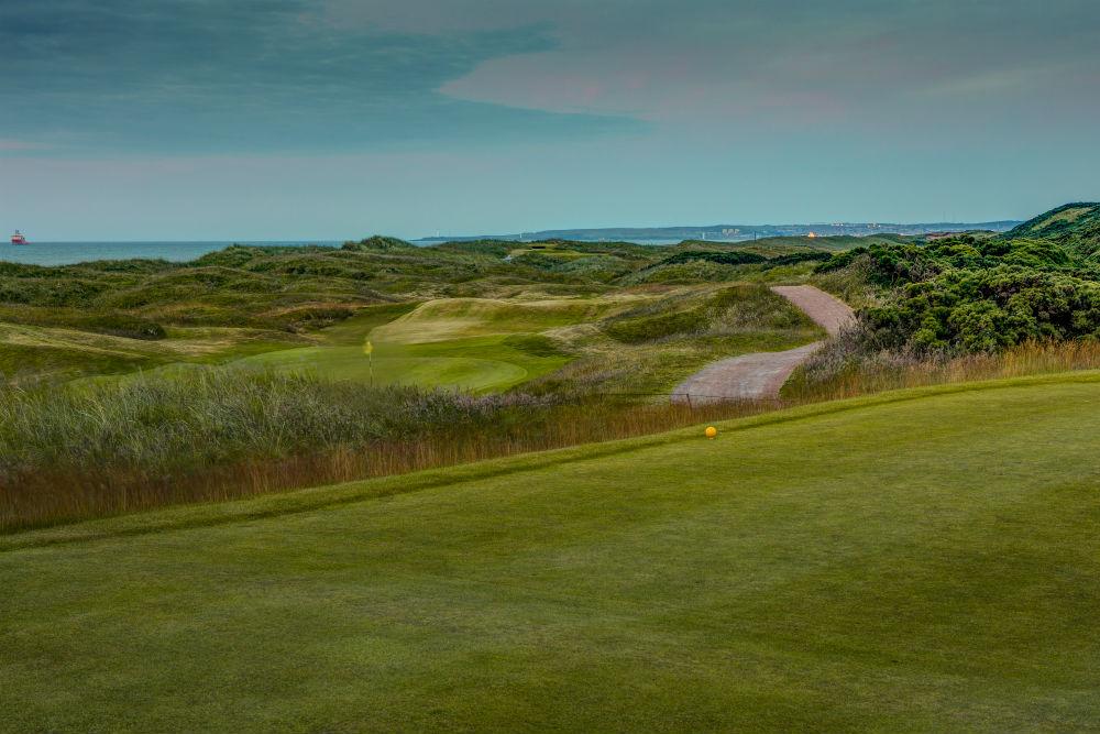 Départ sur le parcours de golf de Murcar à Aberdeen en Ecosse