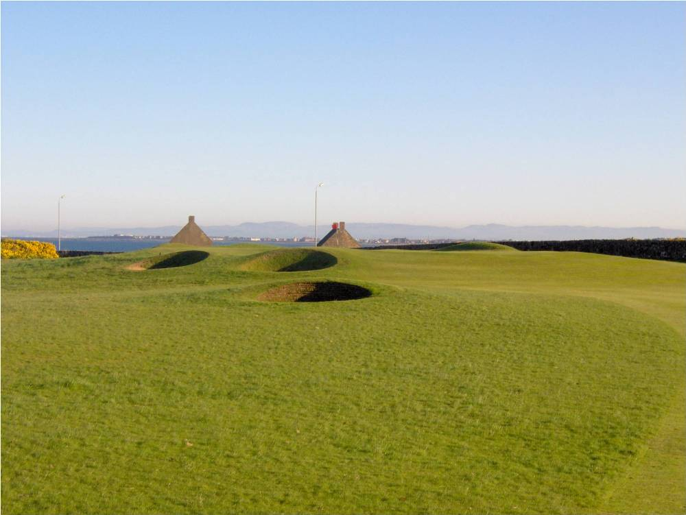 Bunkers sur le parcours de Prestwick St Nicholas