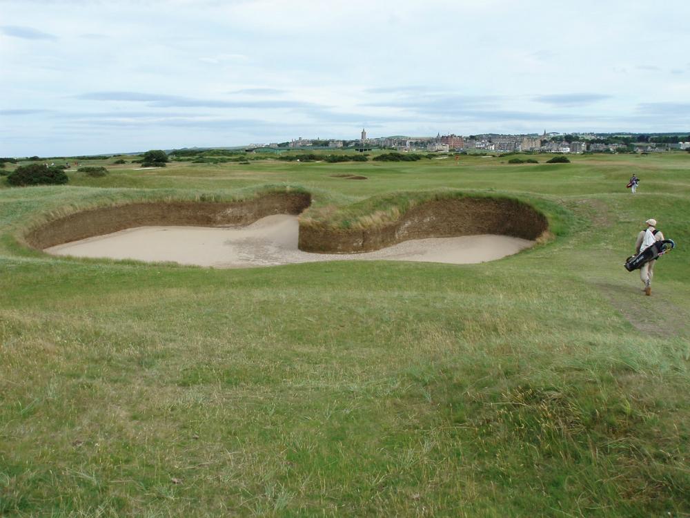 Bunker sur le parcours du Old Course à St Andrews