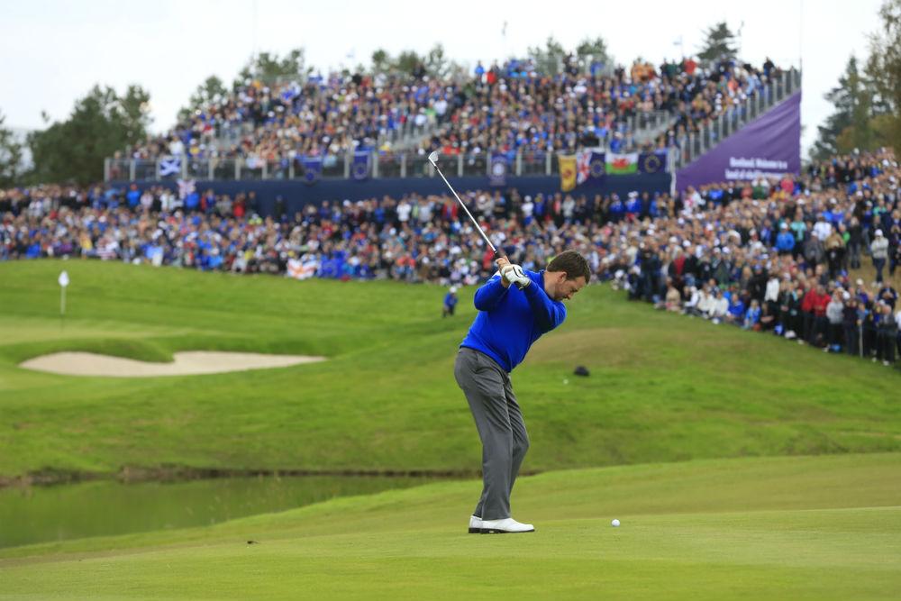 Graeme McDowell à la Ryder Cup 2014 à Gleneagles sur le parcours PGA Centenary en Ecosse