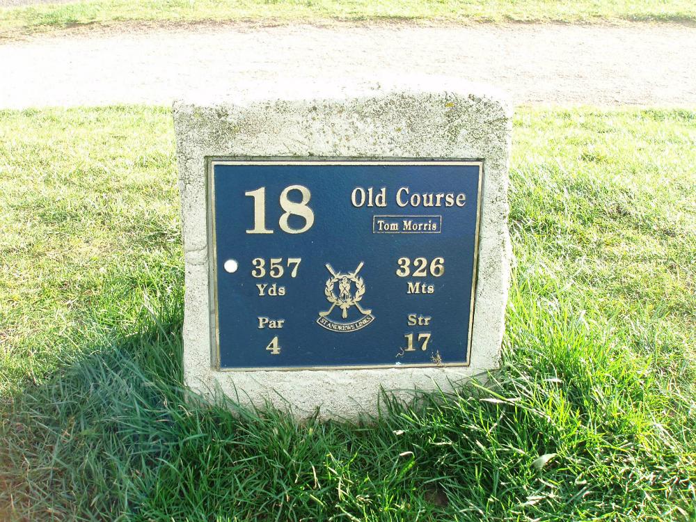 Départ du 18 sur le parcours Old Course de St Andrews