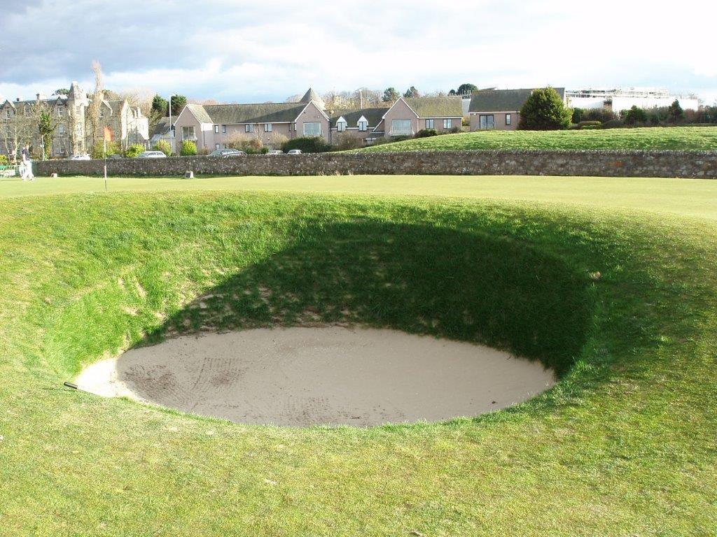 Bunker du 17ème trou du golf Old Course à St Andrews en Ecosse
