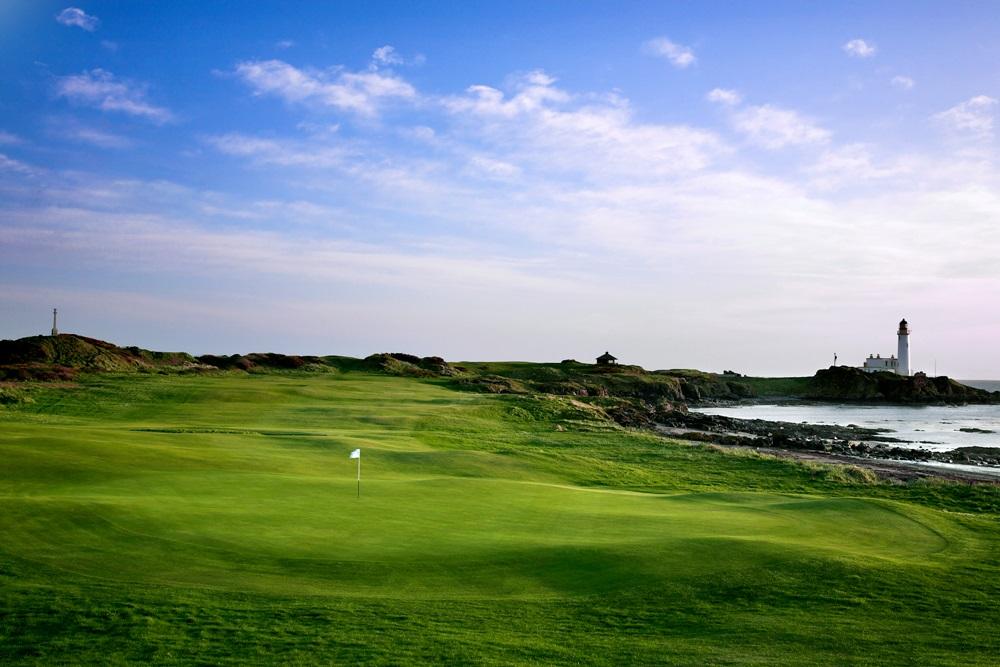 Un green du golf de Turnberry.