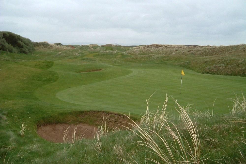 Large green et dunes sur le parcours de Western Gailes