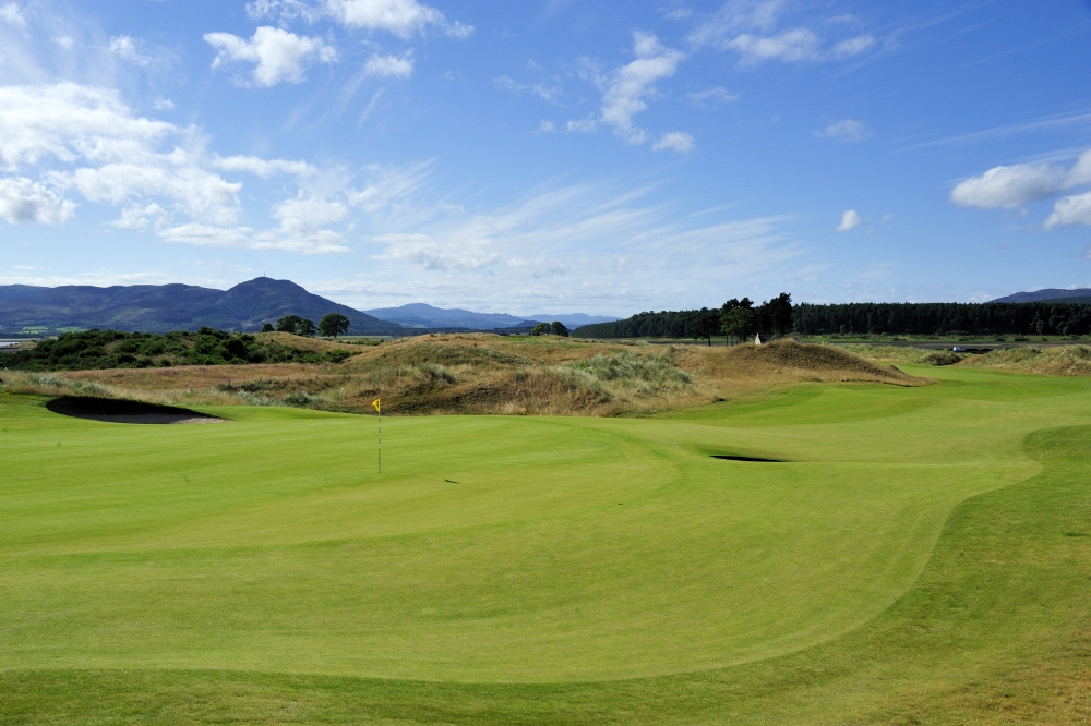 Green et fairway sur le parours de Skibo Castle