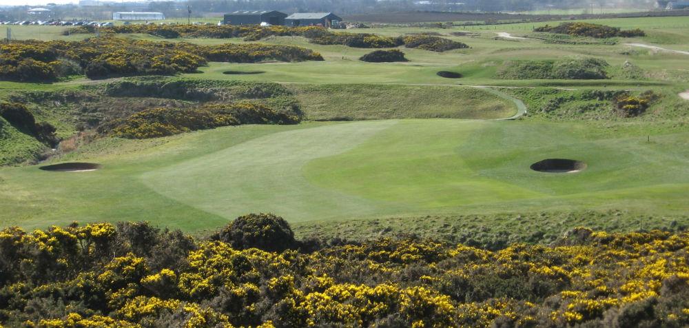 Trou n°15 sur le parcours de golf de Murcar à Aberdeen en Ecosse