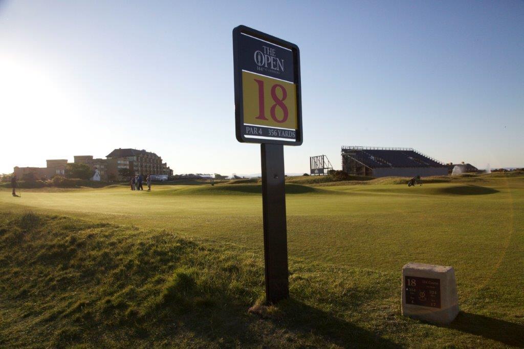 Le 18 du golf Old Course à St Andrews en Ecosse