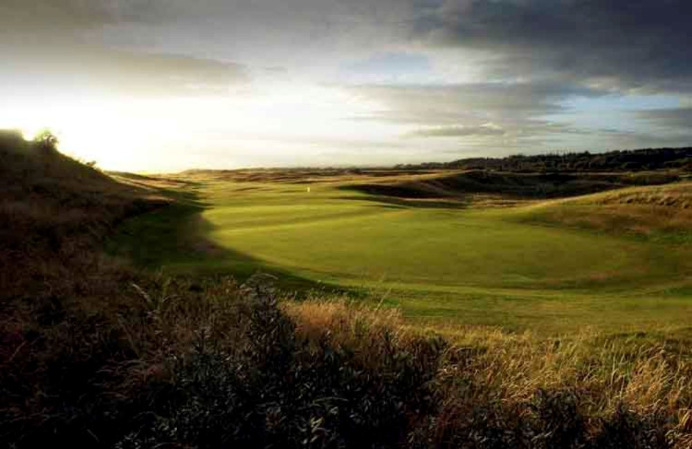 Large green sur le parcours de Royal Troon Old Course