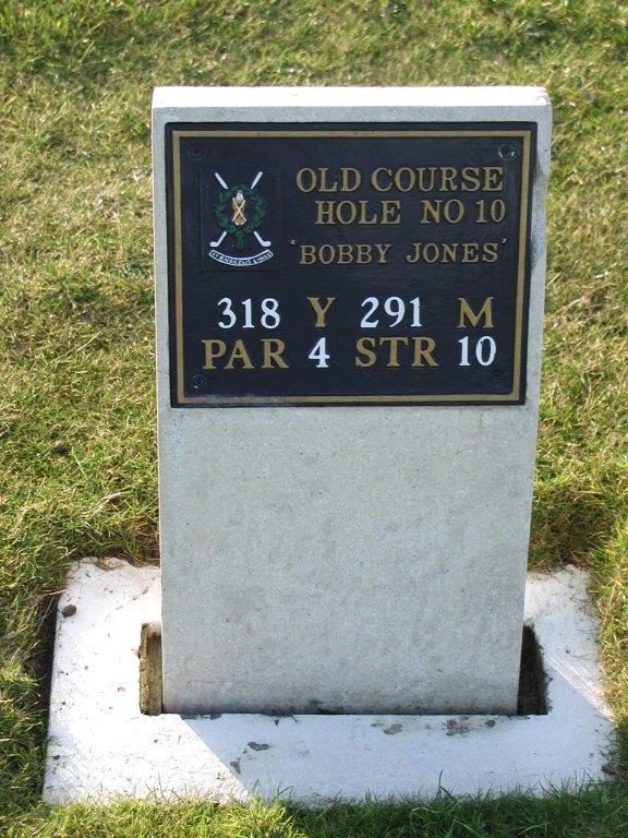 Trou 10 du golf Old Course à St Andrews en Ecosse