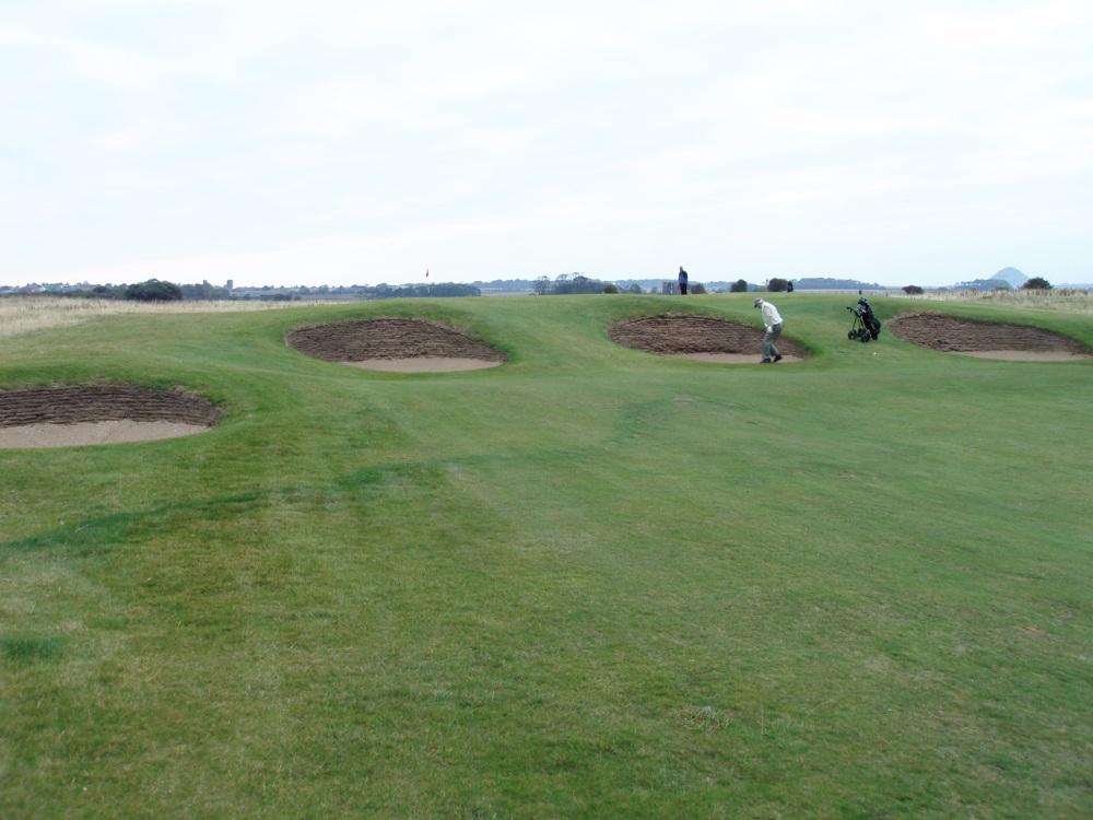 Golfeurs sur le parcours de Luffness New