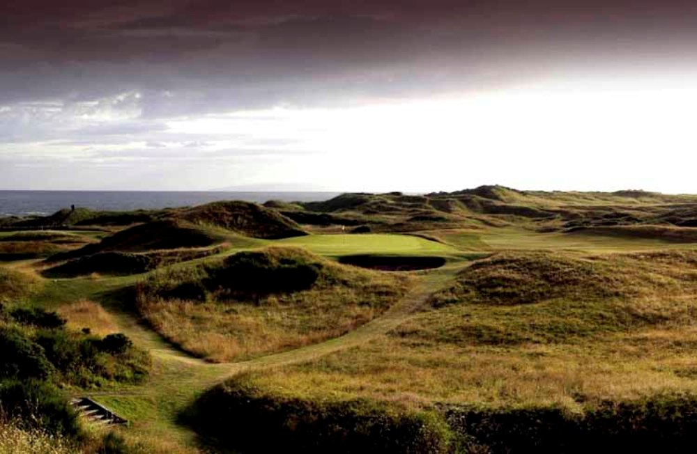 Le paysage du golf de Royal Troon.