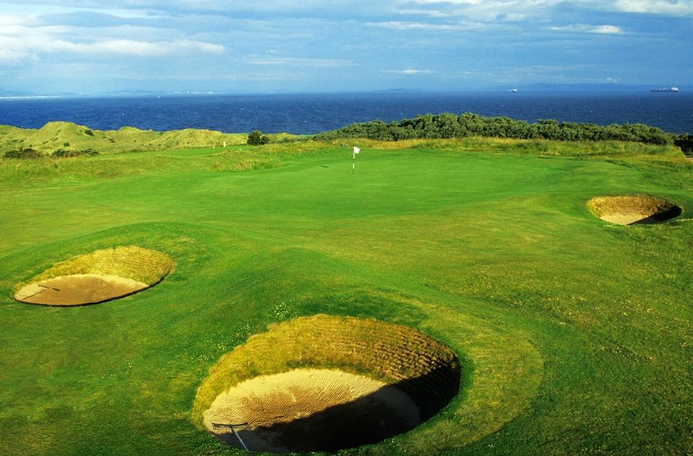 Des bunkers du golf de Gullane.