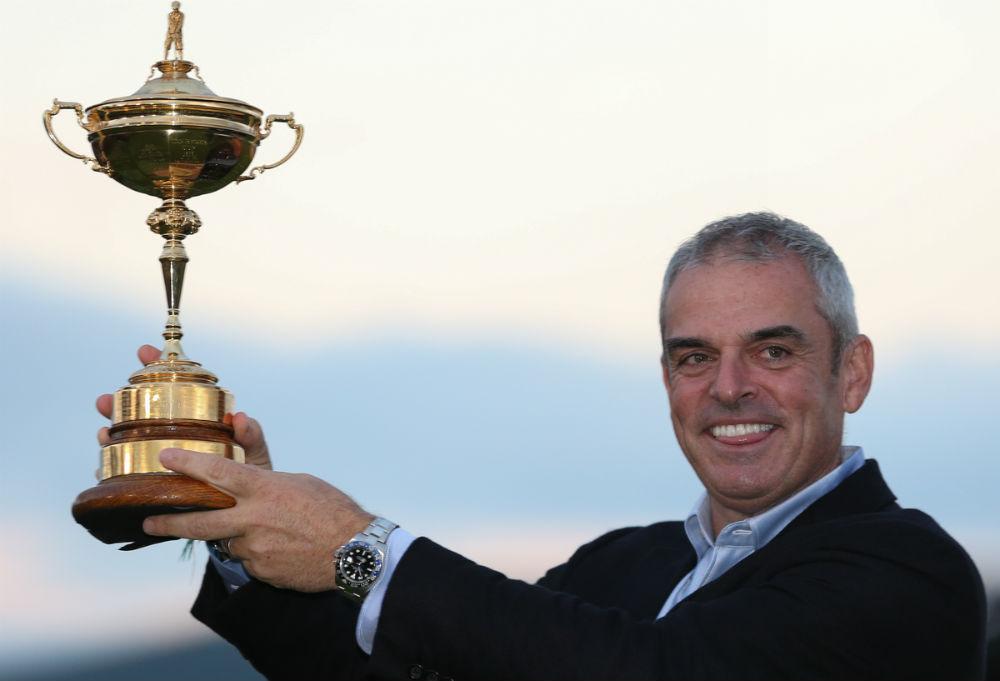 Capitaine Paul McIngley à la Ryder Cup 2014 à Gleneagles sur le parcours PGA Centenary en Ecosse