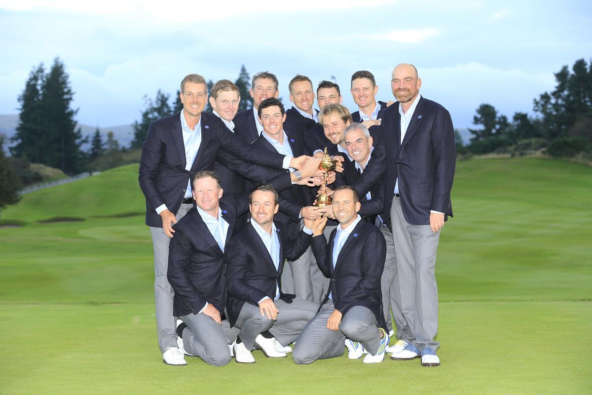 Les joueurs européens à la Ryder Cup 2014 en Ecosse à Gleneagles