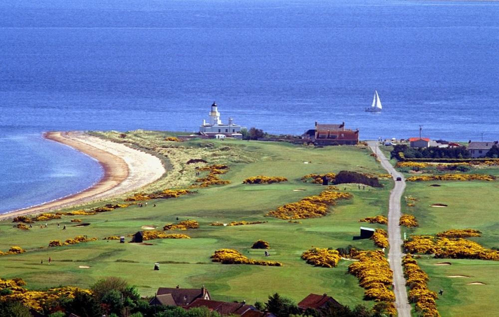 Le paysage du golf de Fortrose&rose.
