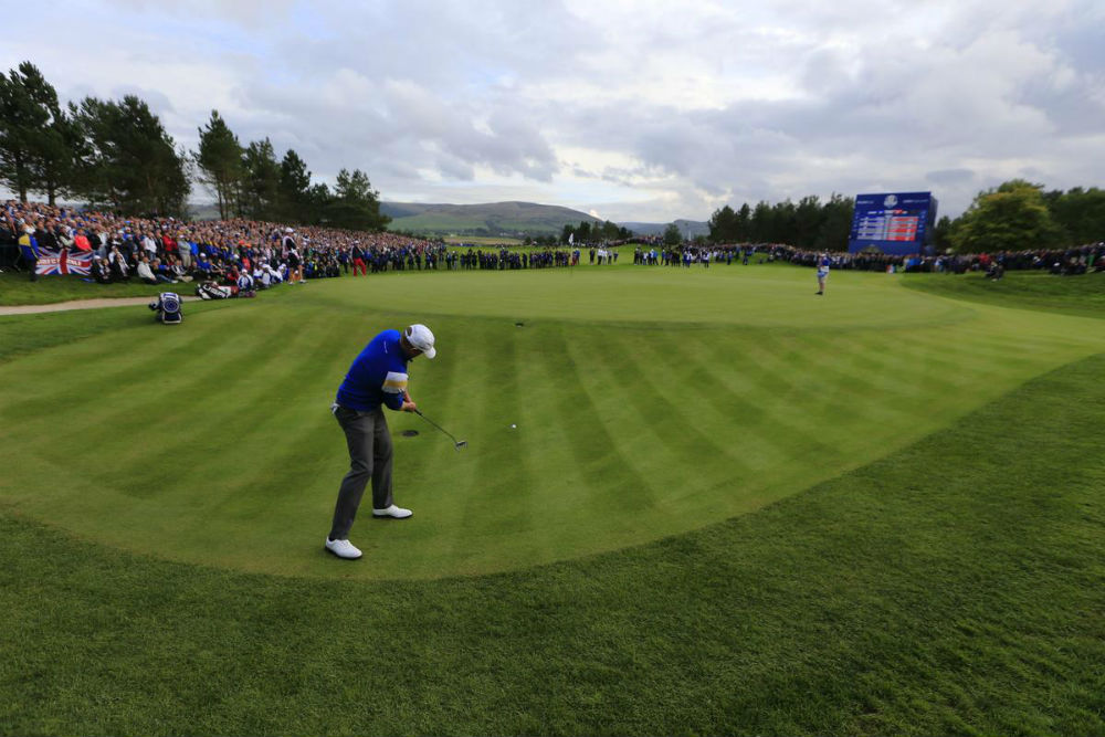 Jamie Donaldson à la Ryder Cup 2014 à Gleneagles sur le parcours PGA Centenary en Ecosse