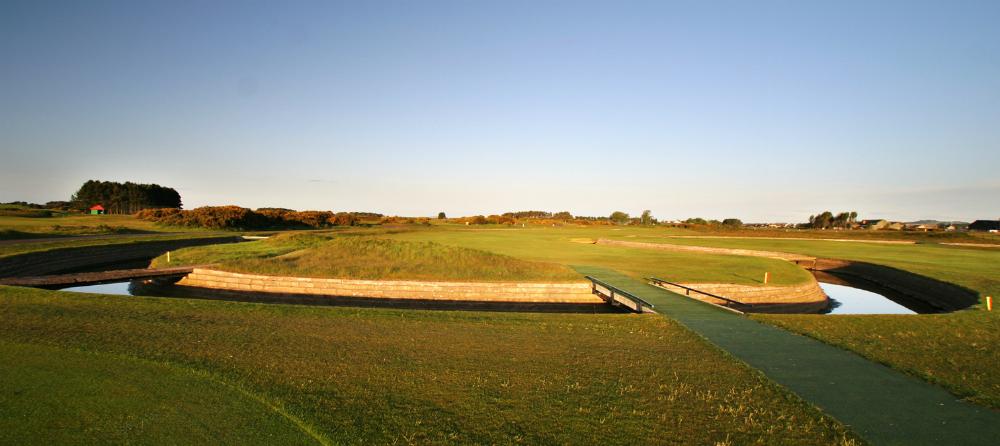 Large green sur le parcours de Carnoustie Championship