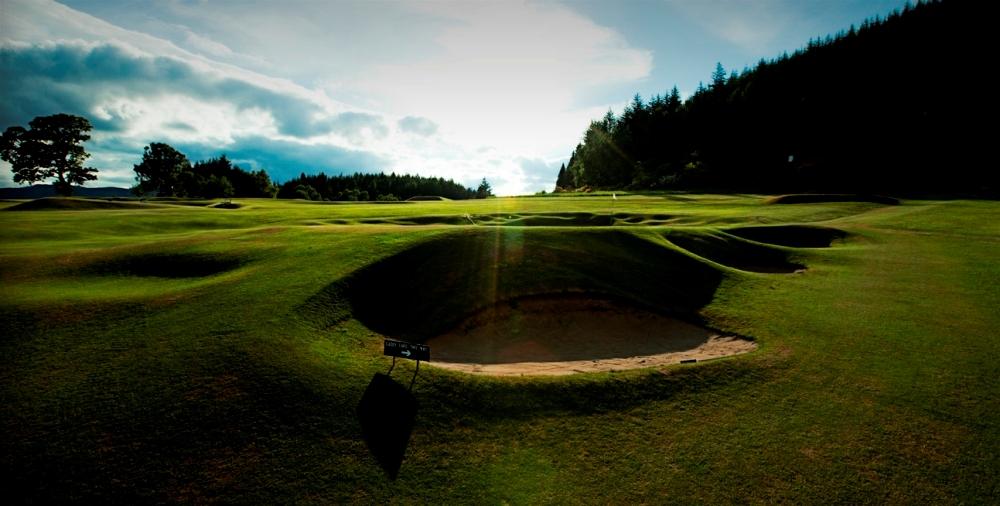 Bunker et green sur le parcours de Pitlochry