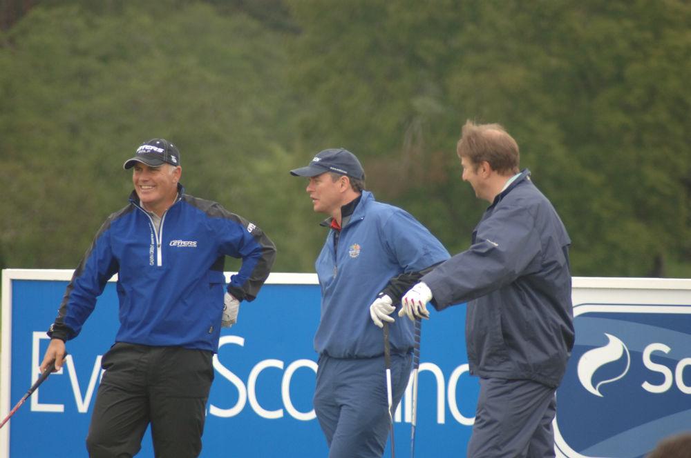Equipe de golfeurs lors du Pro-Am Scottish Hydro Challenge