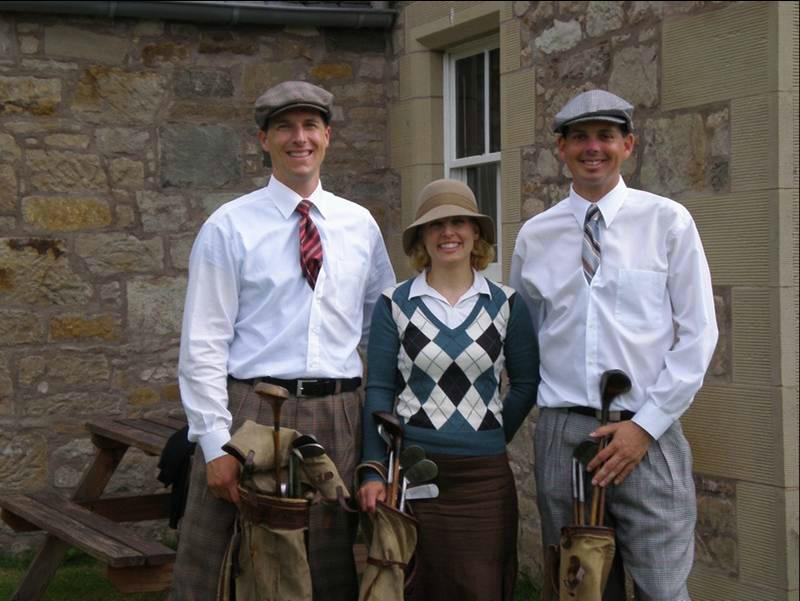 Golfeurs anciens à Kingarrock