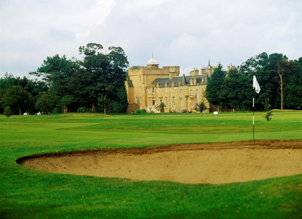 Chateau sur le parcours du Royal Musselburgh