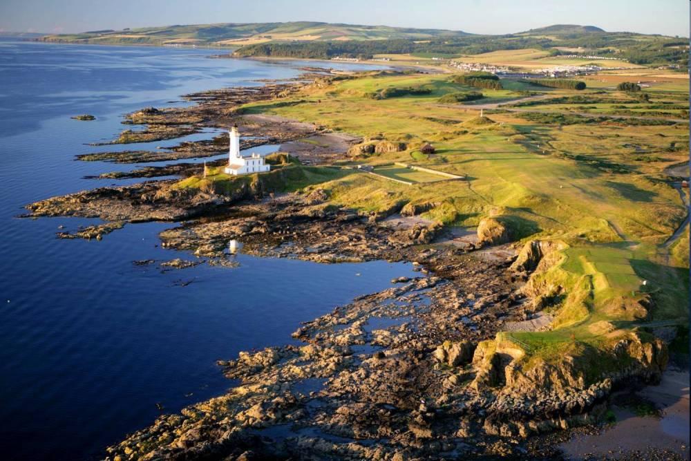 La vue aérienne du golf Turnberry.