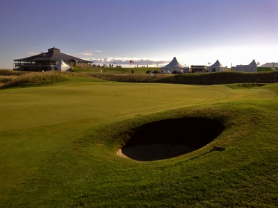 Clubhouse lors du SSE Scottish Senior open