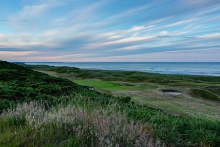 Trou n°7 sur le parcours de golf de Murcar à Aberdeen en Ecosse