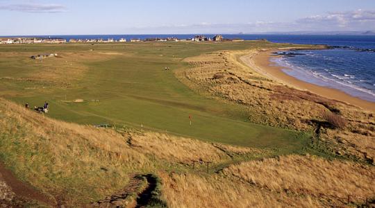 Vue mer et golf sur le parcours de Elie