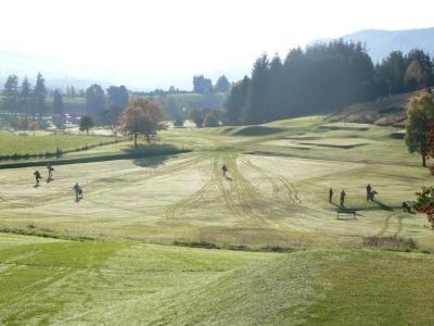 Golfeurs sur le fairway sur le parcours de Pitlochry