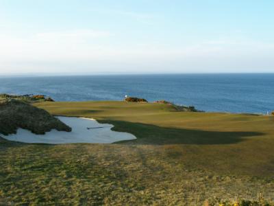 green et vue mer sur la parcours du Castle Course à St andrews