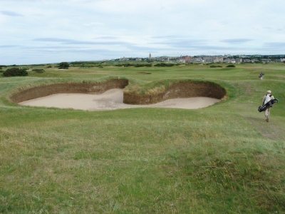 Hell bunker du golf Old Course à St Andrews en Ecosse