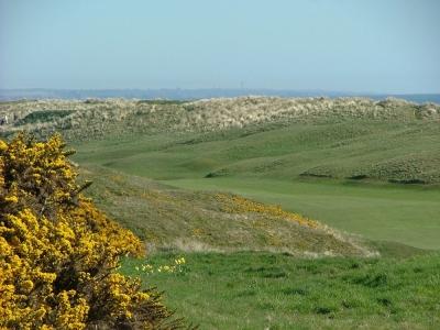 Fairway et dunes sur le parcours du Royal Aberdeen
