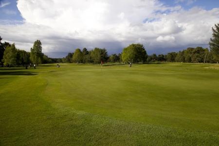 Un green du golf de Ladybank.