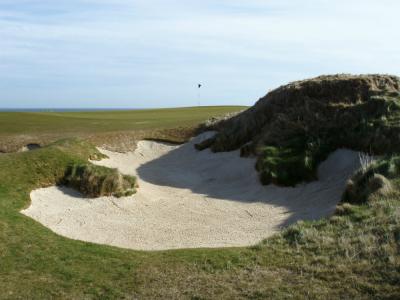 Bunker sur le parcours du Castle Course