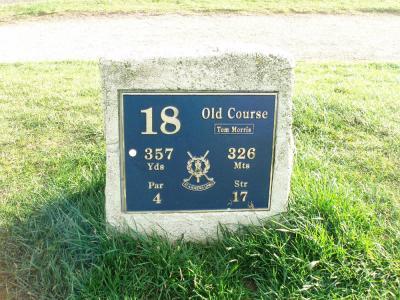 Départ du 18 sur le parcours du old Course à St Andrews