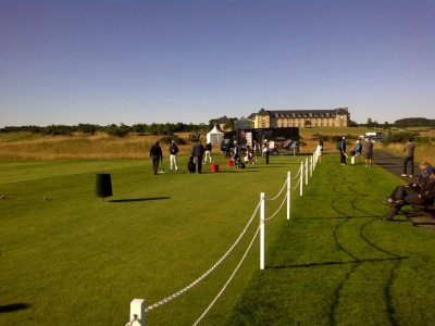 Practice lors du SSE Scottish Senior open