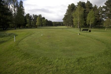 Le départ des blancs du golf de Ladybank.