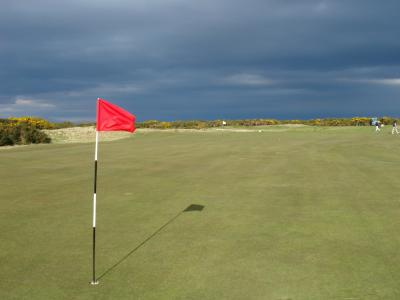 Large green sur le parcours du Old Course à St Andrews